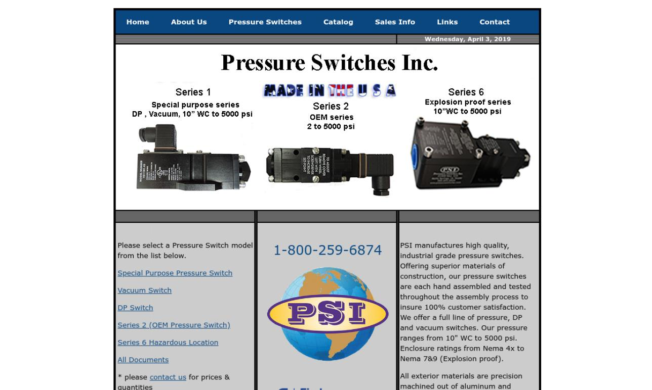 Pressure Switches Inc.